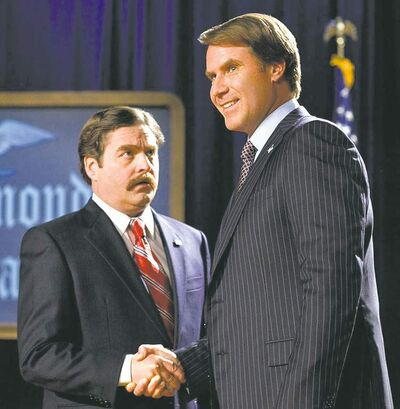 WARNER BROS.May the best buffoon win: Galifianakis and Ferrell in The Campaign.