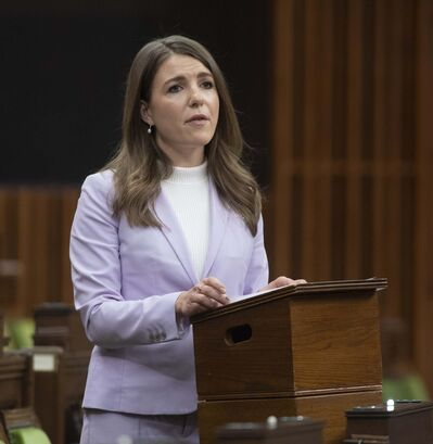 """""""There is a theme with the (federal) government of announcing things that sound great, but the follow-through is very weak,"""" said Winnipeg Conservative MP Raquel Dancho. (Adrian Wyld / The Canadian Press files)</p>"""