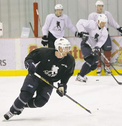 WAYNE GLOWACKI / WINNIPEG FREE PRESS Jim Slater says workouts will be be more intense as players prep for an end to the lockout.