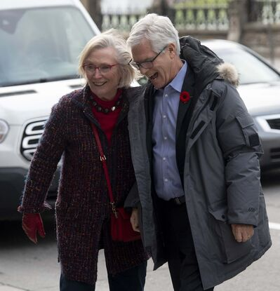 THE CANADIAN PRESS/Adrian Wyld</p><p>Liberal MPs Carolyn Bennett and Jim Carr before a Liberal caucus meeting in Ottawa, Thursday.</p>