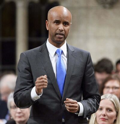 Immigration Minister Ahmed Hussen visited Minneapolis to host a town hall-style meeting with African diaspora groups. (Adrian Wyld / The Canadian Press)</p>