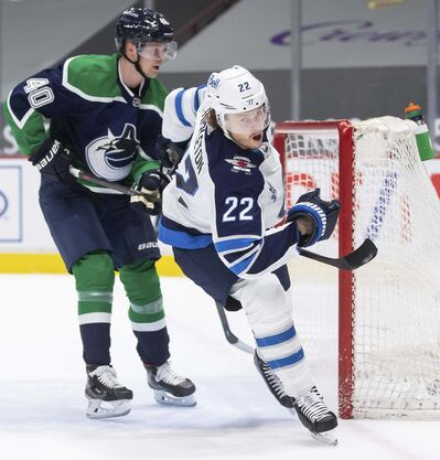 Winnipeg Jets' Mason Appleton is one of a number of eligible forwards the Kraken could select unless protected prior to the expansion draft. (Darryl Dyck / The Canadian Press files)</p>
