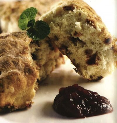 SUPPLIED</p><p>The delicious cinnamon scones served on board the Rocky Mountain.</p>
