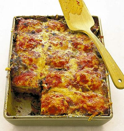 Use a loaf pan to  make lasagna for two.