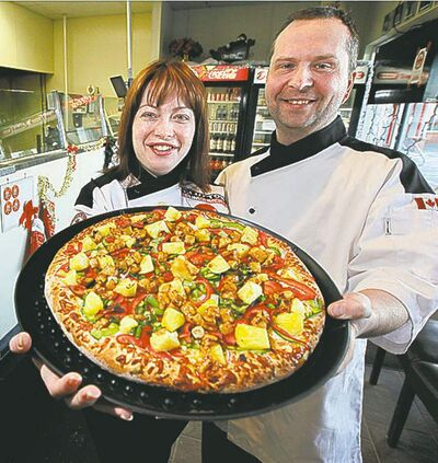 Diana and Pierre Coutu of Diana�s Gourmet Pizza.