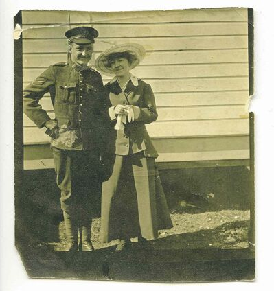 SUPPLIED<P><p>Stanley Bowen (left) with his fiance Mary McNair before he went to war.