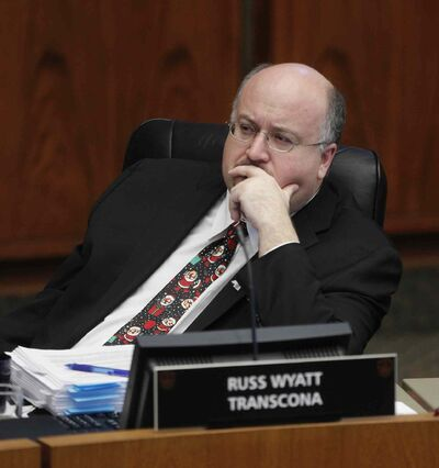 """'We're struggling to sweep our streets, we can't maintain our infrastructure but we're funding a professional NHL hockey team,"""" Coun. Russ Wyatt notes."""