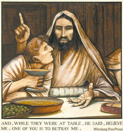 """The Passion of Christ (And While They Were at Table...)"""