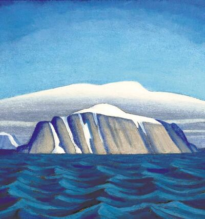 The painting Island Off Greenland, Arctic Sketch by artist Lawren Harris