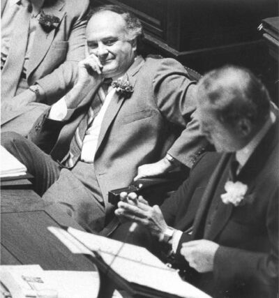The actions of Jim Walding on March 8, 1988, forced Howard Pawley (above) to resign.