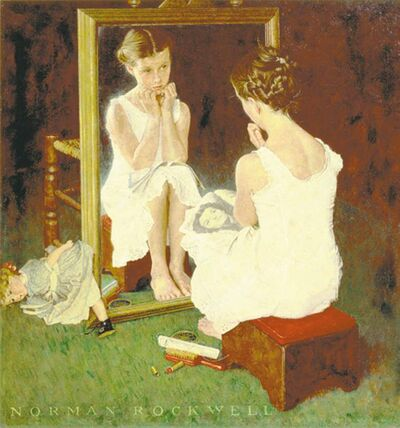 Girl at Mirror appeared on the cover of the Saturday Evening Post March 5, 1954.