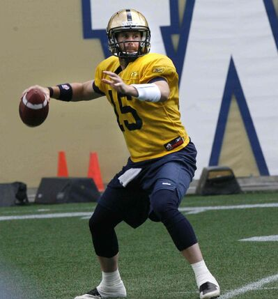 Max Hall was one of the final cuts made by the Winnipeg Blue Bombers this year.