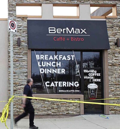 The BerMax Caffé and Bistro at 1800 Corydon Ave. was targeted for the fourth time in five months by a hate crime involving anti-Semitic graffiti and property damage Thursday, the night before Passover.