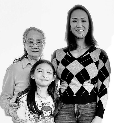 Coun. Vivian Santos (Point Douglas) is pictured here with her mother and daughter.