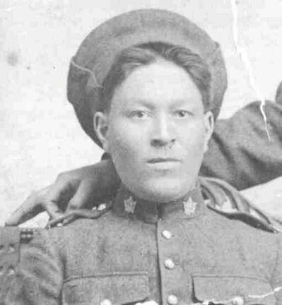 Pte. Kenneth McClure Asham, from Peguis (St. Peters Reserve), served in the 108th and 78th Battalions.