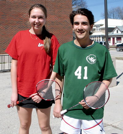Hanna Hendrickson-Rebizant and Maxime Betournay took home the provincial high school singles badminton championships on Saturday.