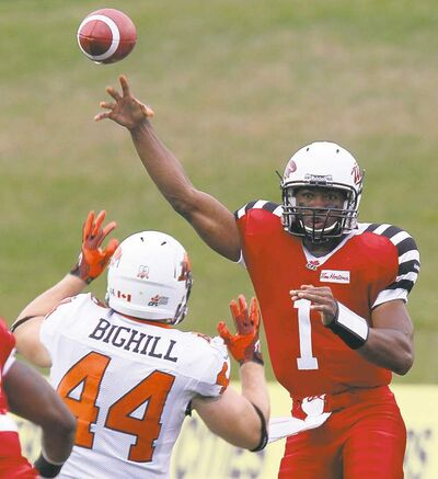Dave Chidley / the canadian pressTiger-Cats quarterback Henry Burris threw for 375 yards and four touchdowns against B.C.