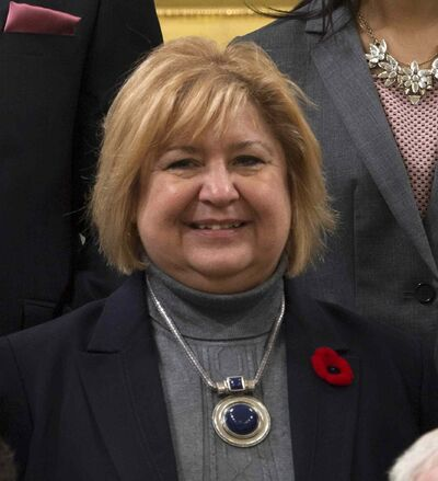 MaryAnn Mihychuk, Minister of Employment, Workforce Development and Labouris seen during a group photo after being sworn in Wednesday Nov.4, 2015 in Ottawa.