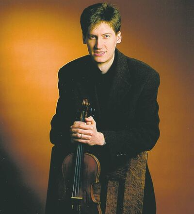 Violinist Karl Stobbe is a member of the ensemble.