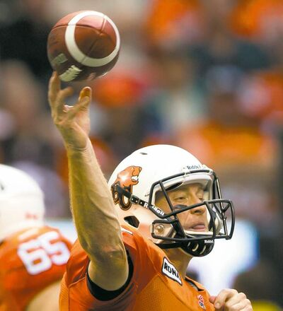 Darryl Dyck / The Canadian Press ArchivesB.C. Lions quarterback Travis Lulay noted another team started off poorly last year � and ended up hoisting the Grey Cup.