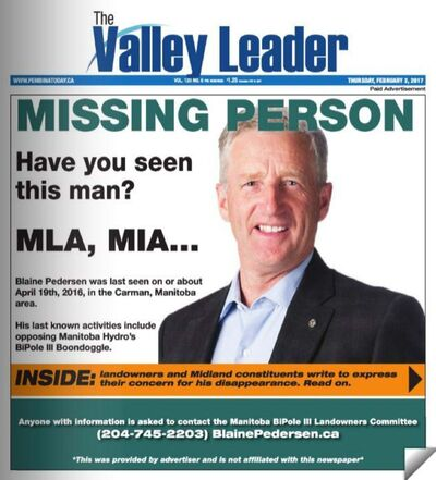 The Carman Valley Leader front page for Feb. 2, 2017.</p>
