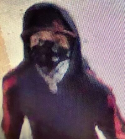 The suspect identified from video surveillance wanted for hate crimes at two local schools. (submitted)