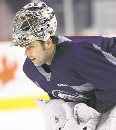 Yanked against Minnesota a week ago, Jets goaltender Ondrej Pavelec makes his return to the net today in Beantown.