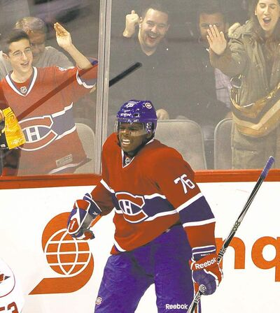 Canadiens defenceman P.K. Subban signed a two-year deal worth US$5.75 million.