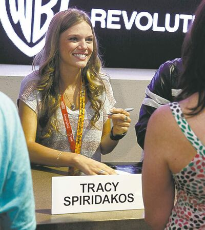 Spiridakos at Comic-Con 2012 in San Diego.