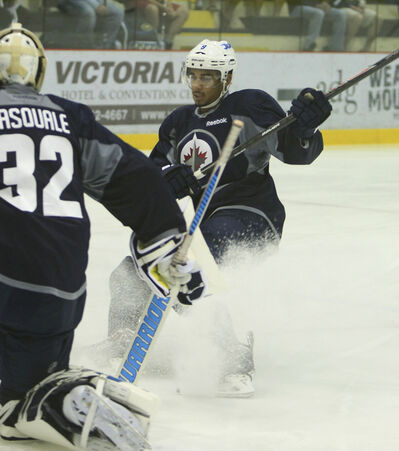 Evander Kane and his teammates hit the ice at the MTS IcePlex this morning for the first day of training camp.