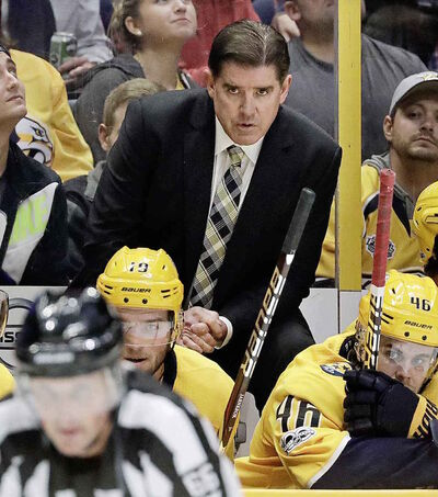 Nashville Predators head coach Peter Laviolette is hoping to lead his team to the Stanley Cup final for the second season in a row.