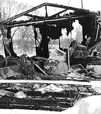 TREVOR HAGAN / WINNIPEG FREE PRESS A fire Saturday killed one person and destroyed an Edgewood Road home.