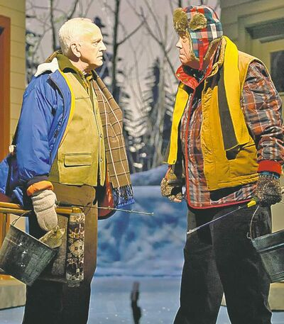 John Rubinstein, left, and Conrad John Schuck starred  in Grumpy Old Men, The Musical.