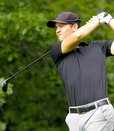 Manitoba's 2013 amateur golfer of the year Joshua Wytinck is two-over par and sits in a tie for 18th place at the Manitoba Men's Amateur Championship.