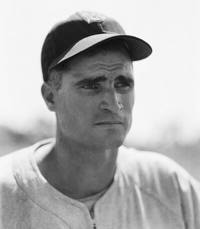 """FILE - In this April 1, 1948, file photo, Boston Red Sox infielder Bobby Doerr is shown in Boston. Doerr, a Hall of Fame second baseman who was dubbed the """"silent captain"""" by longtime Red Sox teammate and life-long friend Ted Williams, has died. He was 99. (AP Photo/Bill Chaplis)"""