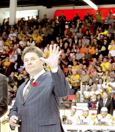 Former Wheat King great Brad McCrimmon was saluted by the crowd prior to last year's Memorial Cup semifinal in Brandon.