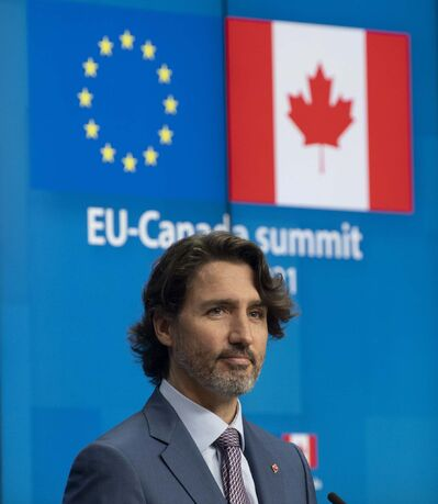 Canadian Prime Minister Justin Trudeau's Liberal Party remain static at 29 per cent (Adrian Wyld / The Canadian Press files)</p>