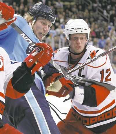 Gene J. Puskar / the associated press archivesJordan Staal (left) and brother Eric Staal went head to head when Jordan played in Pittsburgh. Now they centre Carolina�s first and second lines, respectively.