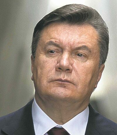 Former Ukrainian president Viktor Yanukovich is now in exile in Russia.