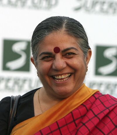 RONALD ZAK / THE ASSOCIATED PRESS FILES</p><p>Vandana Shiva</p>