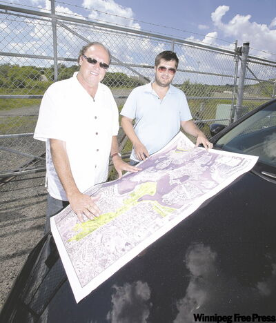 Engineer-turned-developer John Gale and his son Ryan have a map full of development plans for Kenora.