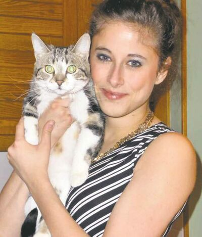 Renee el-Gabalawy and Mowgli, the freedom-seeking feline.