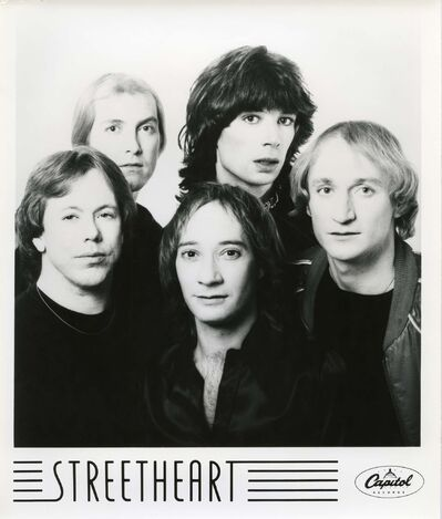 Streetheart in 1982. Neill is second from right.</p></p>