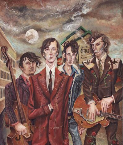 JEREMY BRUNEEL ILLUSTRATION</p><p>The Sadies &mdash; Sean Dean (from left), Dallas Good, Mike Belitsky and Travis Good &mdash; recorded their latest album in the basement of the Good family home.</p>