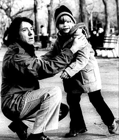 Dustin Hoffman, left, and Justin Henry in Kramer vs. Kramer.