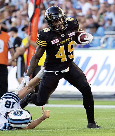 Hamilton Tiger-Cats linebacker Larry Dean.