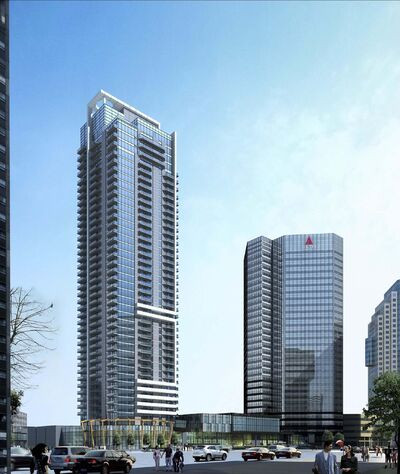 SUPPLIED Artis REIT&rsquo;s new 40-storey apartment tower at 300 Main St. </p>