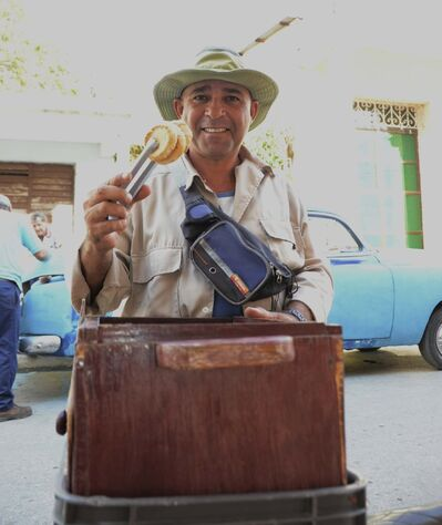 When a travelling vendor stops to say hola, say yes to Torticas de Moron — they're delicious.</p>