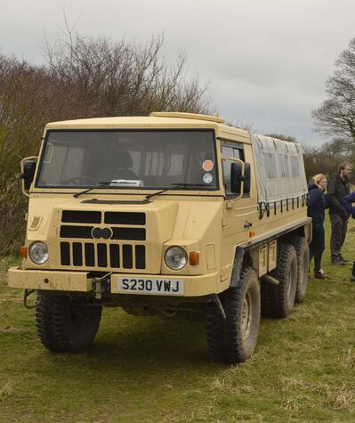 supplied</p><p>A safari truck takes visitors on wildlife tours around Knepp Castle.</p>