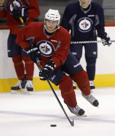 Julian Melchiori during Jets' Group A practice at MTS Centre, Sept. 21, 2011.